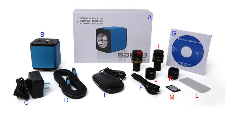 Все варианты комплектации камеры ToupCam ALPHA1080A.