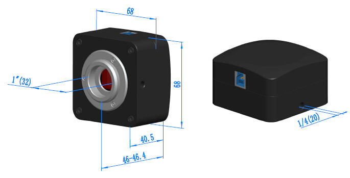Габаритные размеры камер серии E3ISPM