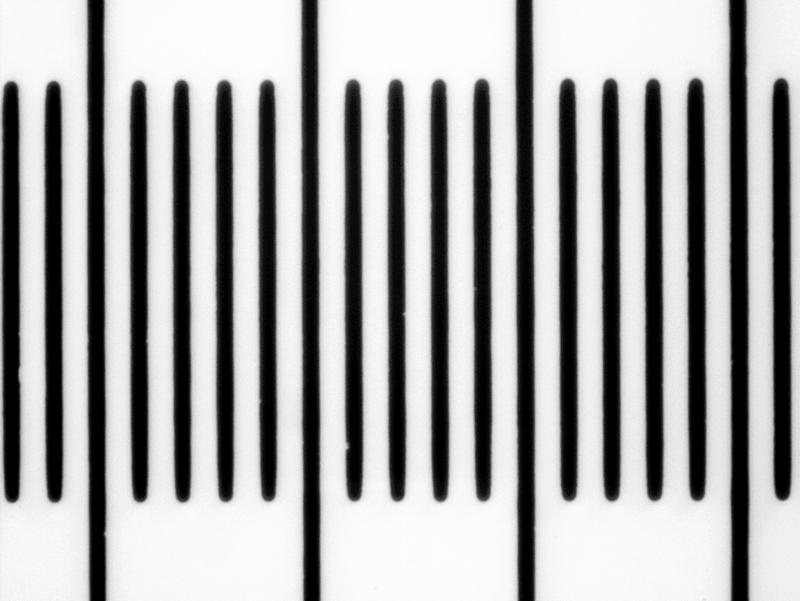 Вид шкалы микрометра при увеличении 40х