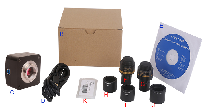 Стандартные и дополнительные компоненты поставки камер U3ISPM