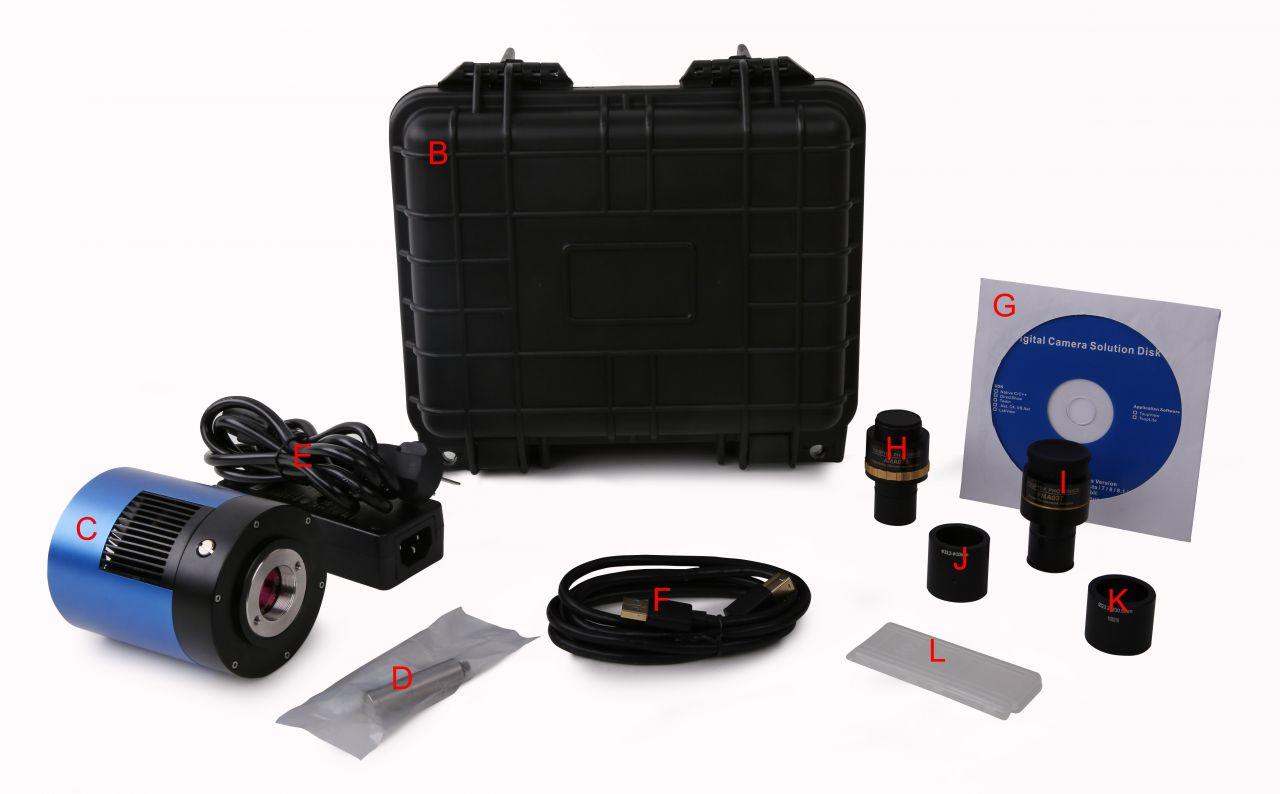Информация об упаковке камеры серии MTR3CMOS
