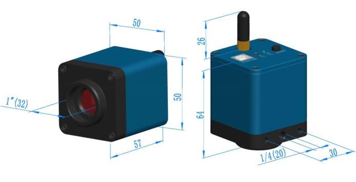 Mikroskop set hd mp hdmi vga industrielle mikroskop kamera
