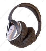"Disposable hygienic 35 g non-woven headphone cover caps (hood), 12,00 cm Diameter (5"" inch), Black colour, 100 pcs/pack"
