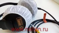 "Disposable hygienic 35 g non-woven headphone cover caps (hood), 10 cm (4"") Diameter (4 inch), white colour, 100 pcs/pack"