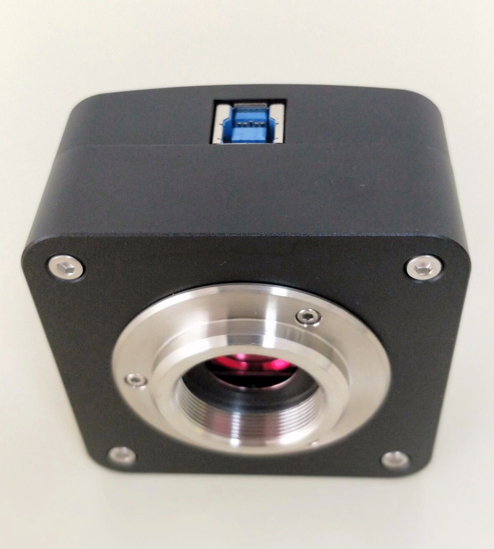 Digital camera for microscopes with C-mount connector (color video