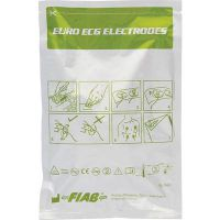 Fiab F9049-RU5734 Disposable electrodes for ECG, polyurethane base, oval 57x34 mm, Packaging 50 pcs., made in Italy