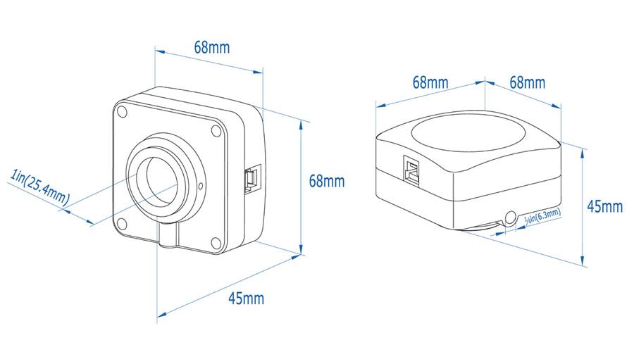 Цифровая Wi-Fi камера для микроскопов на базе скоростной CMOS матрицы Sony