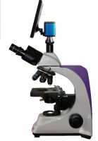 Digital Microscope Micromed-1 version 3 LED with compact visualization device based on LCD screen and camera. Kit for routine research in veterinary medicine