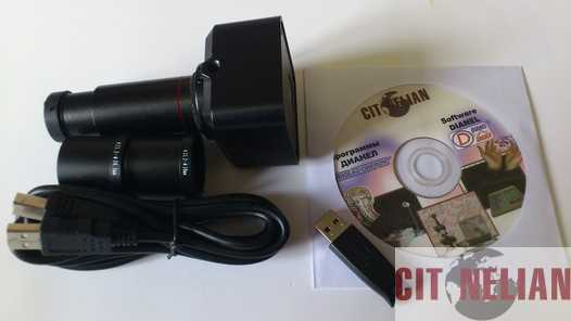 Kit für mikroskop aufwertung besteht aus digitalen cmos kamera