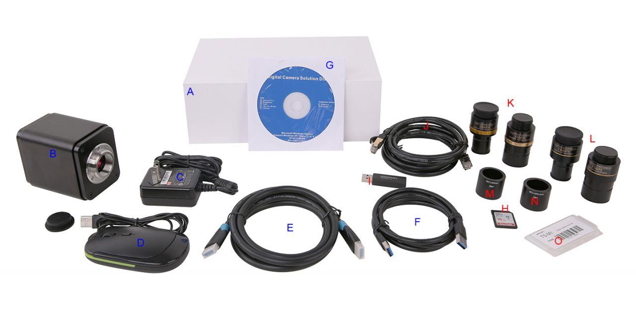Камера XCAM4K16MPA может быть укомплектована большим ассортиментом полезных аксессуаров. Выберите нужные вам позиции по этой картинке и укажите их при заказе камеры