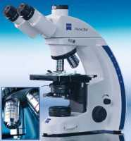 Trinocular microscope Carl Zeiss Primo Star with a halogen lamp and achromatic object-glass